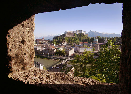 Salzburg City Centre & Castle from the City Walls