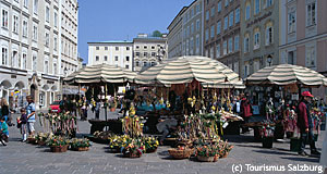 The Alter Markt is an ancient market square in Salzburg; now an exclusive shopping area.