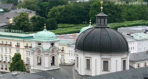 The Trinity Church (Dreifaltigkeitskirche) in Salzburg is a Baroque church and associated with the priest seminar.