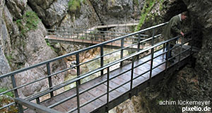 The Glasenbachklamm can be found just outside Salzburg. A great gorge for a walk.