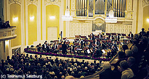 The Großer Saal is the biggest concert venue of the Mozarteum in Salzburg.