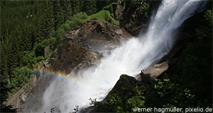 The waterfalls of Krimml are the highest in Austria.