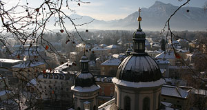 Kirche St. Erhard and the south of Salzburg in February