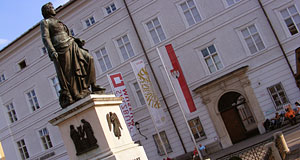 The entrance to the Salzburg Museum, the town museum of local history.