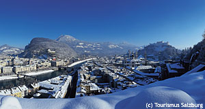 Snow gives a special look to a special city: Salzburg in winter.