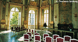 The Marble Hall in Schloss Mirabell is Salzburg's favourite wedding venue.