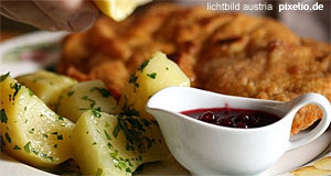 The Wiener Schnitzel, national meal of Austria.