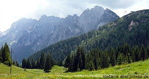 The Tennengebirge is a scenic mountain range in Salzburg, after which the Tennengau was named.