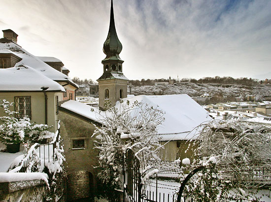 The Johanneskirchlein im Imberg in winter
