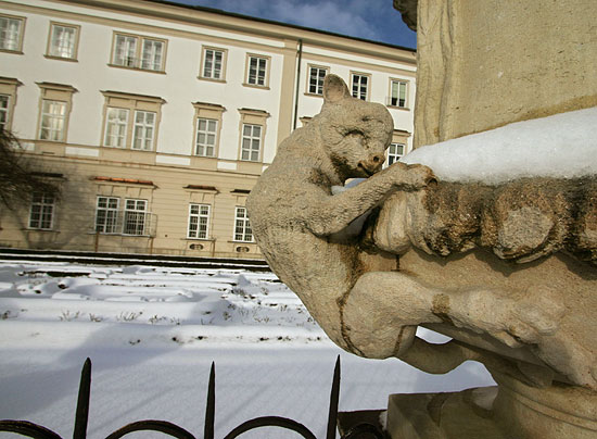Lamb at Mirabell Palace and Garden in Winter