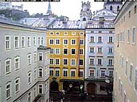 Salzburg Webcam showing the Mozart birthplace