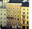 A view on Baroque houses of Salzburg